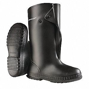 Overboots,Mens,M,Button,Blk,PVC,PR