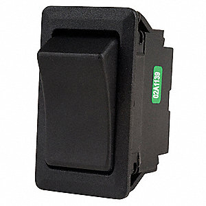 "Rocker Switch, Contact Form: SPDT, Number of Connections: 3, Terminals: 0.250"" Quick Connect Tab"
