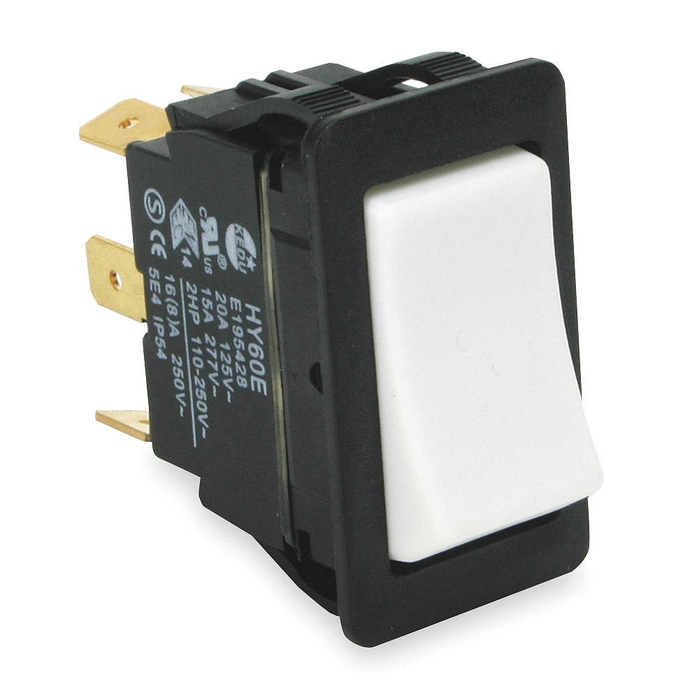 POWER FIRST Rocker Switch, Contact Form: SPDT, Number of Connections ...