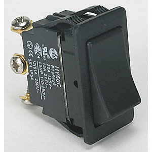 Rocker Switch, Contact Form: SPDT, Number of Connections: 3, Terminals: Screw