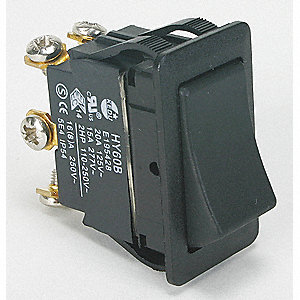 Rocker Switch, Contact Form: DPDT, Number of Connections: 6, Terminals: Screw