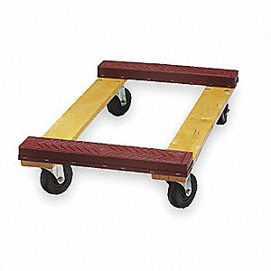 "30""L x 18""W x 5-3/4""H Natural General Purpose Dolly, 1000 lb. Load Capacity"