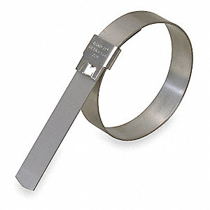 201 Stainless Steel Band Clamp, PK of 12
