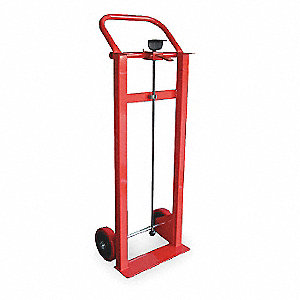 File Cabinet Hand Truck, Continuous Frame Flow-Back, 400 lb. Overall Height 67""