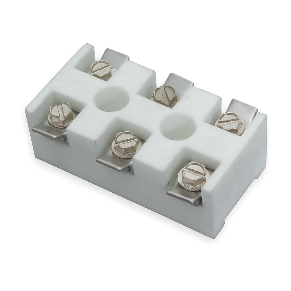 TEMPCO Ceramic Terminal Block, High Temperature 3-Pole, 600VAC ...