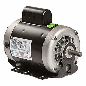 1-1/2 HP Belt Drive Motor, Capacitor-Start, 3450 Nameplate RPM, 115/208-230 Voltage, Frame 56