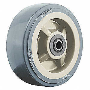 "5"" Caster Wheel, 750 lb. Load Rating, Wheel Width 2"", Polyurethane, Fits Axle Dia. 1/2"""