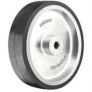 Caster Wheel,Rubber,6 in.,250 lb.