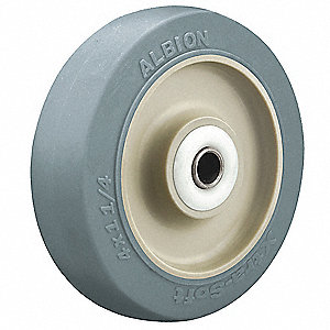 Caster Wheel,Blue,70 Shore A,1/2 in Bore