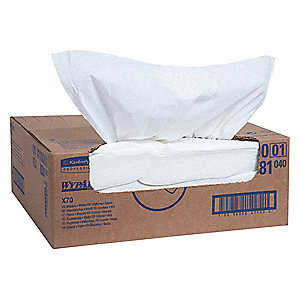 "Hydroknit(R) Disposable Wipes, 300 Ct. 14-9/10"" x 16-3/5"" Sheets, White"