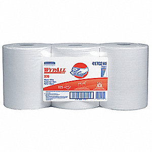 White Hydroknit(R) Wypall Wiper Rolls, Number of Sheets 275, Package Quantity 3