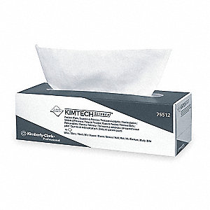 White LWC (Light Weight Crepe) Disposable Wipes, Number of Sheets 196, Package Quantity 15