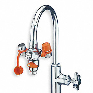 Eyewash w/Diverter, Faucet Mount, Pull Handle, Assembled, No Bowl