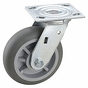 "6"" Light-Medium Duty Swivel Plate Caster, 600 lb. Load Rating"