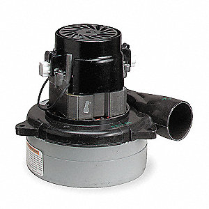 "Tangential Bypass Vacuum Motor, 5.7"" Body Dia., 24VDC Voltage, Blower Stages: 3"