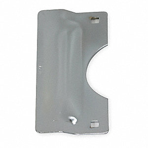 "Chrome Heavy Duty Latch Guard, Out Opening Doors, Length 7"", Width 3"""