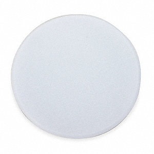 Wall Patch and Guard, White Plastic, Overall Dia. 5""