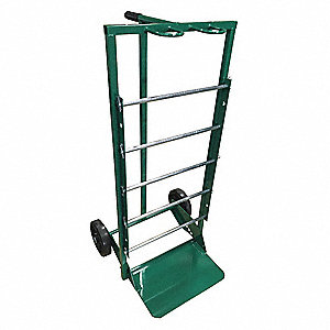 "25""L x 23""W x 47""H Green Wire Spool Cart, 300 lb. Load Capacity"