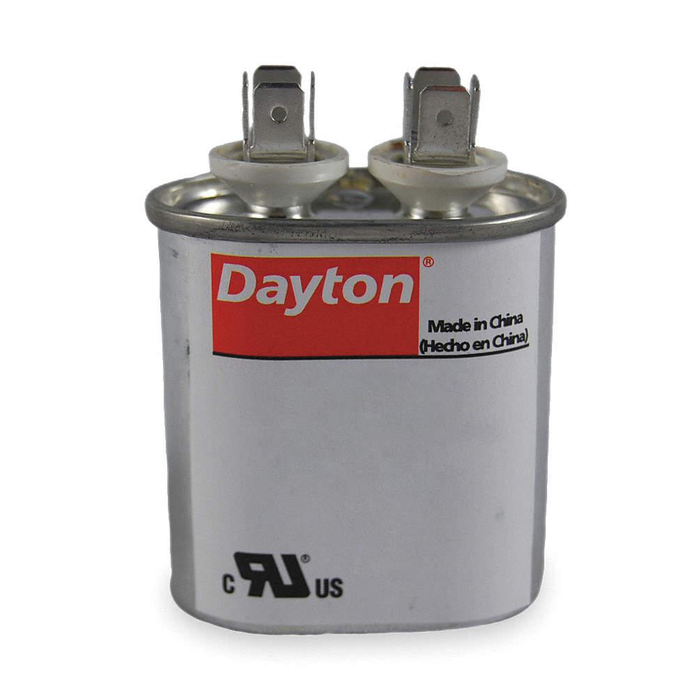 Oval Motor Run Capacitor,7 5 Microfarad Rating,370VAC Voltage