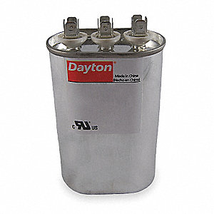 Oval Motor Dual Run Capacitor,25/5 Microfarad Rating,440VAC Voltage