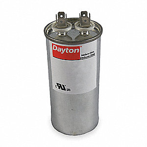 Round Motor Run Capacitor,40 Microfarad Rating,370VAC Voltage
