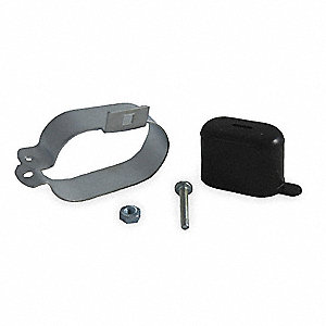 Capacitor Mounting Kit,Includes Metal Bracket, Rubber Boot and Mounting Hardware,1 EA,For Use With R