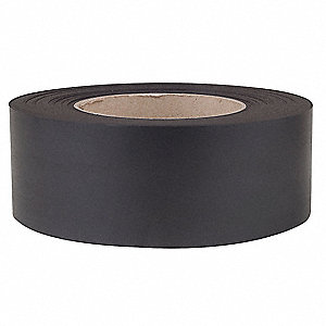 Magnetic Label Roll,W 2 in,L 50 Ft,Black