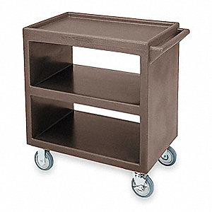 "37-1/4"" x 21-1/2"" x 34-5/8"" Polyethylene Service Cart with 500 lb. Load Capacity, Brown"