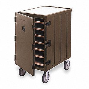 Meal Delivery Cart, Tray Size (In.): 18 x 26, Brown