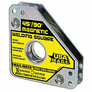 Magnetic Weld Square,3-3/4x3-3/4in,60lb