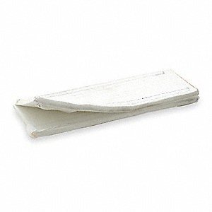 "12"" Polyester Wear Pad, 5/16"" Thick, For Sling Width: 2"", White"