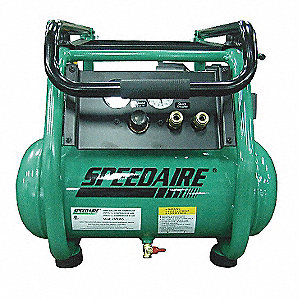2.0 HP, 115VAC, 4 gal. Portable Electric Oil-Lubricated Air Compressor, 200 psi