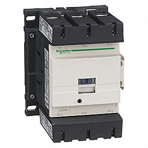 120VAC IEC Magnetic Contactor; No. of Poles 3, Reversing: No, 115 Full Load Amps-Inductive