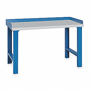 "Workbench, Laminate, 30"" Depth, 35-1/4"" Height, 60"" Width, 1000 lb. Load Capacity"