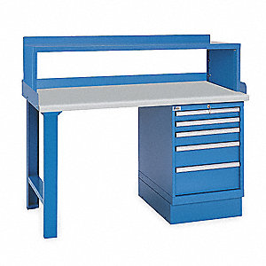 "Workbench, Laminate, 30"" Depth, 35-1/4"" Height, 72"" Width, 1000 lb. Load Capacity"