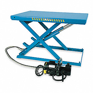 Stationary Electric Lift Scissor Lift Table, 2200 lb. Load Capacity, Lifting Height Max. 38-5/8""
