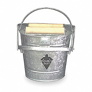 Silver Galvanized Steel Mop Bucket and Wringer, 3 gal.