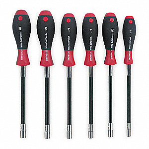 "10-1/4"" Nut Driver Set, Black/Red&#x3b; Number of Pieces: 6"