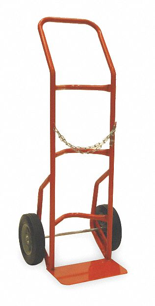Standard Cylinder Hand Truck,  500 lb Load Capacity,  48 in x 19 1/2 in x 18 in