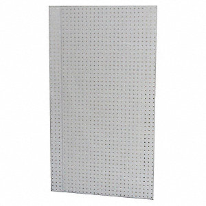 "24"" x 48 Polypropylene Pegboard with 275 lb. Load Rating, White"