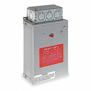 Phase Converter,Static,1/3-3/4 HP
