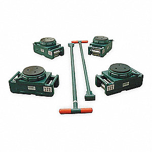 Equipment Roller Kit,240,000 lb.,Swivel