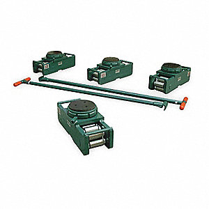 Equipment Roller Kit,400,000 lb.,Swivel