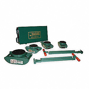 Equipment Roller Kit,16,000 lb.,Swivel