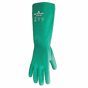 Chemical Resistant Gloves,  XL/10,  Glove Materials Nitrile,  1 PR