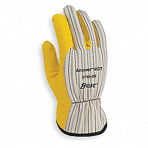 Coated Chore Gloves,Poly/Cotton,M,Ylw,PR