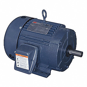 3 HP General Purpose Motor,3-Phase,1760 Nameplate RPM,Voltage 208-230/460,Frame 182T
