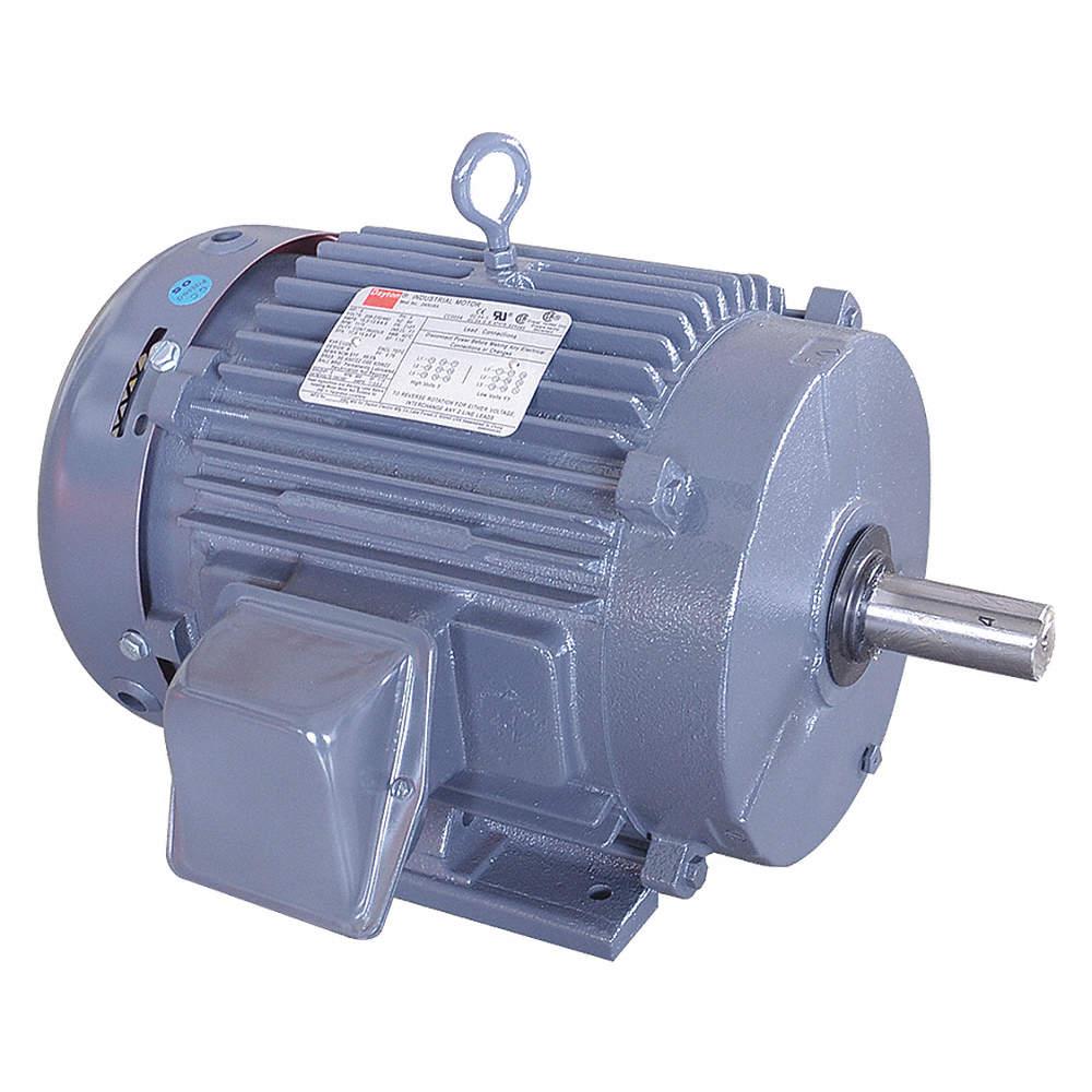 Dayton 10 Hp General Purpose Motor 3 Phase 1770 Nameplate Rpm 230 460 Voltage 215t Frame 2mxv4 194153 00 Grainger