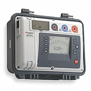Digital/Analog LCD AC and Battery Megohmmeter&#x3b; Insulation Resistance Range: 10K to 15 teraohm