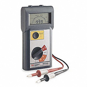 Digital LCD Battery Operated Megohmmeter&#x3b; Insulation Resistance Range: 1000 megohm